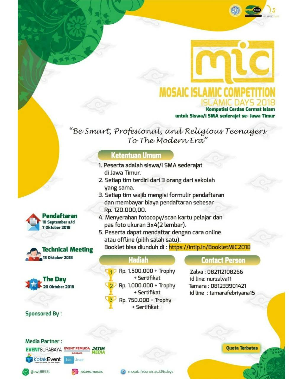 ISLAMIC DAYS MOSAIC FEB UNAIR